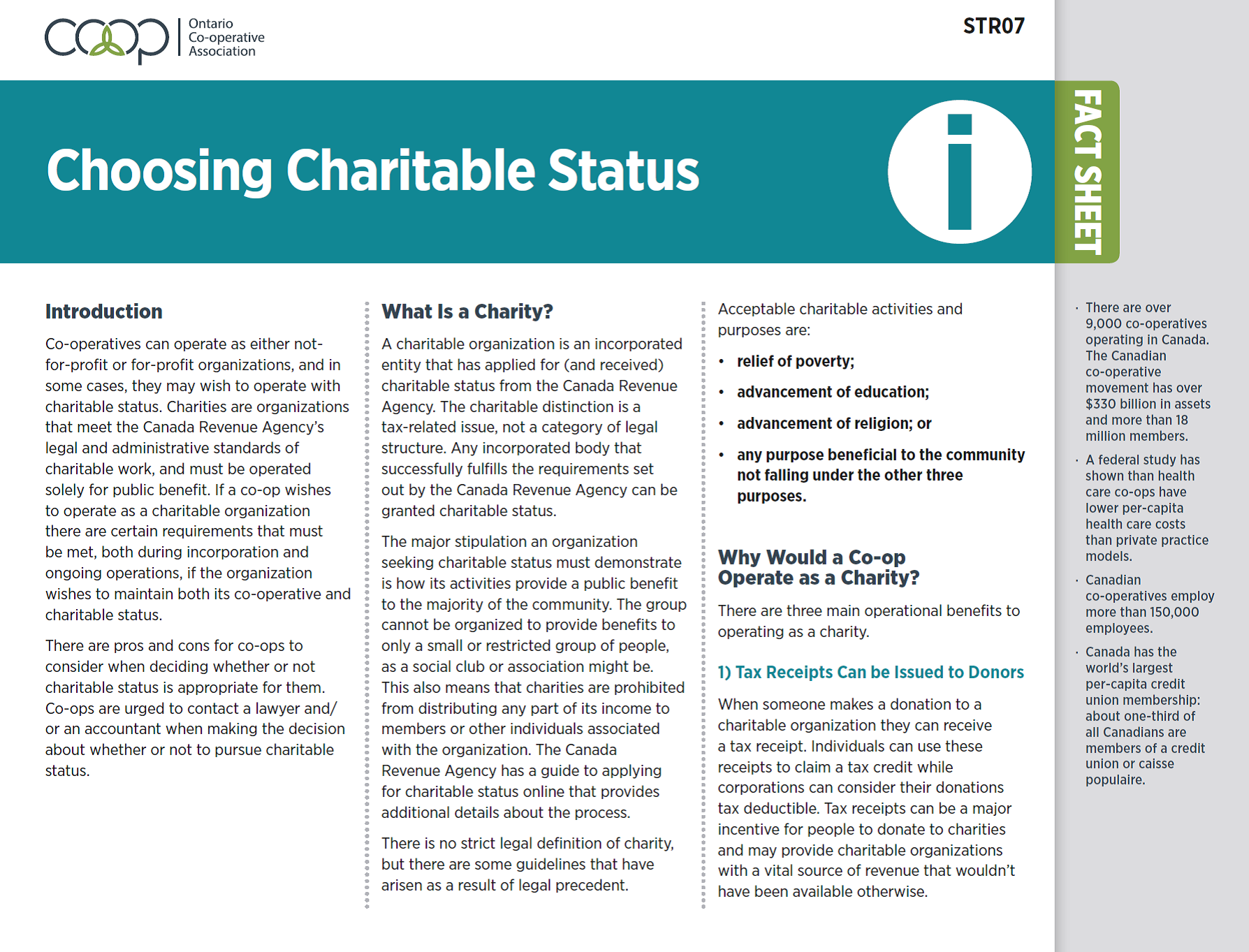 Choosing Charitable Status