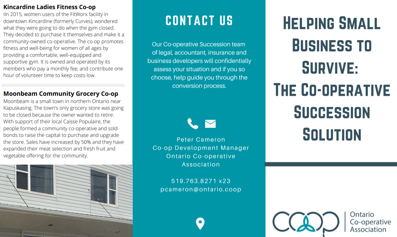 Helping Small Business to Survive: The Co-operative Succession Solution (brochure)