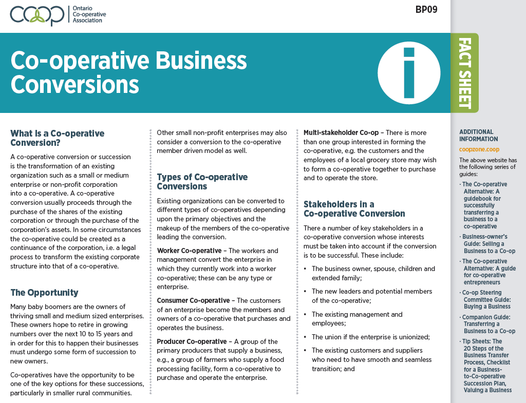 Co-op Business Conversions