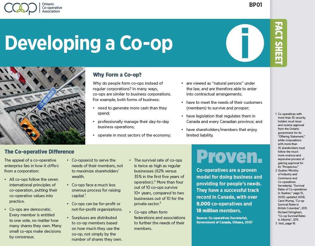 Developing a Co-op