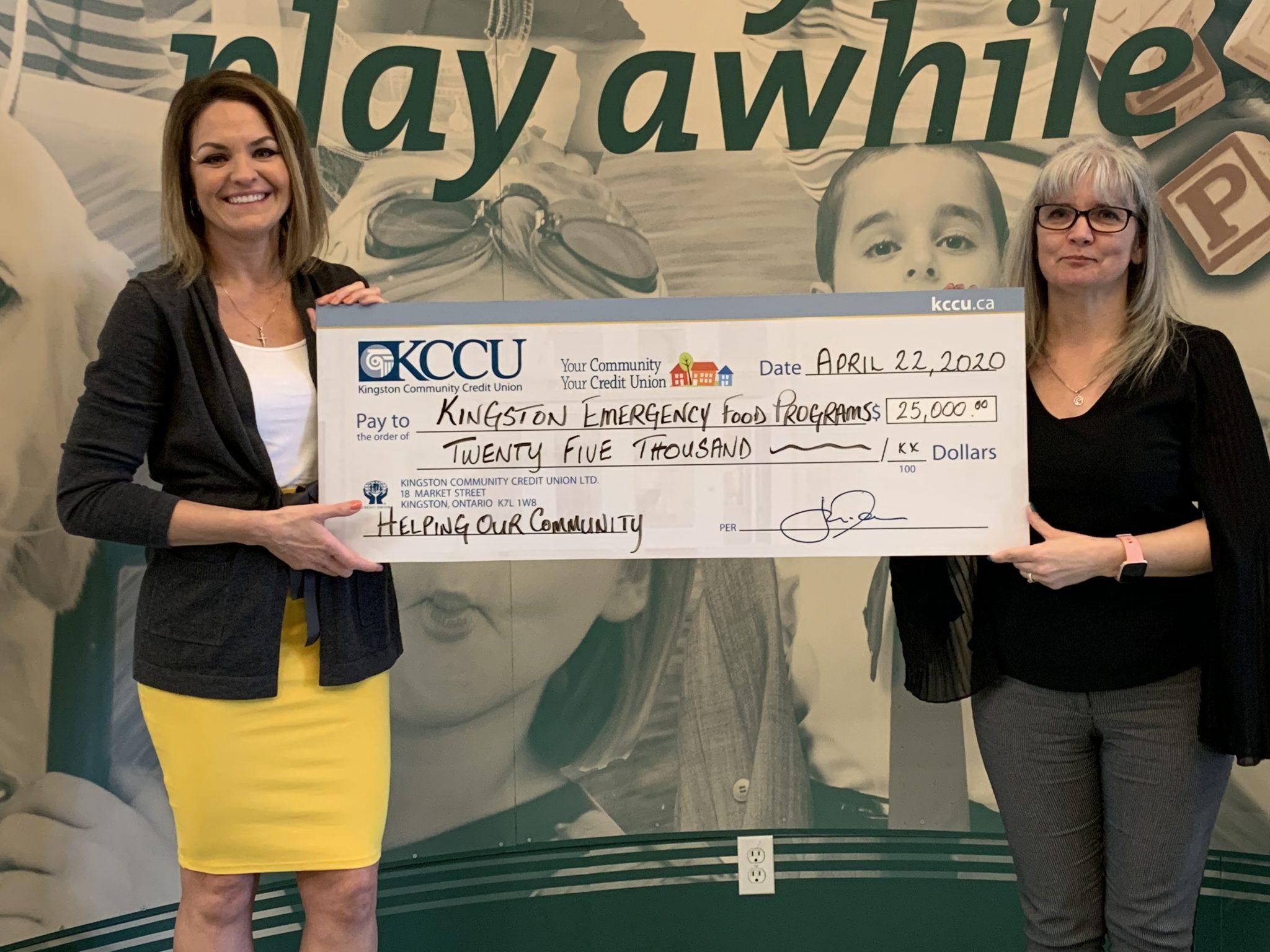 KCCU donates $25k to help local emergency food programs