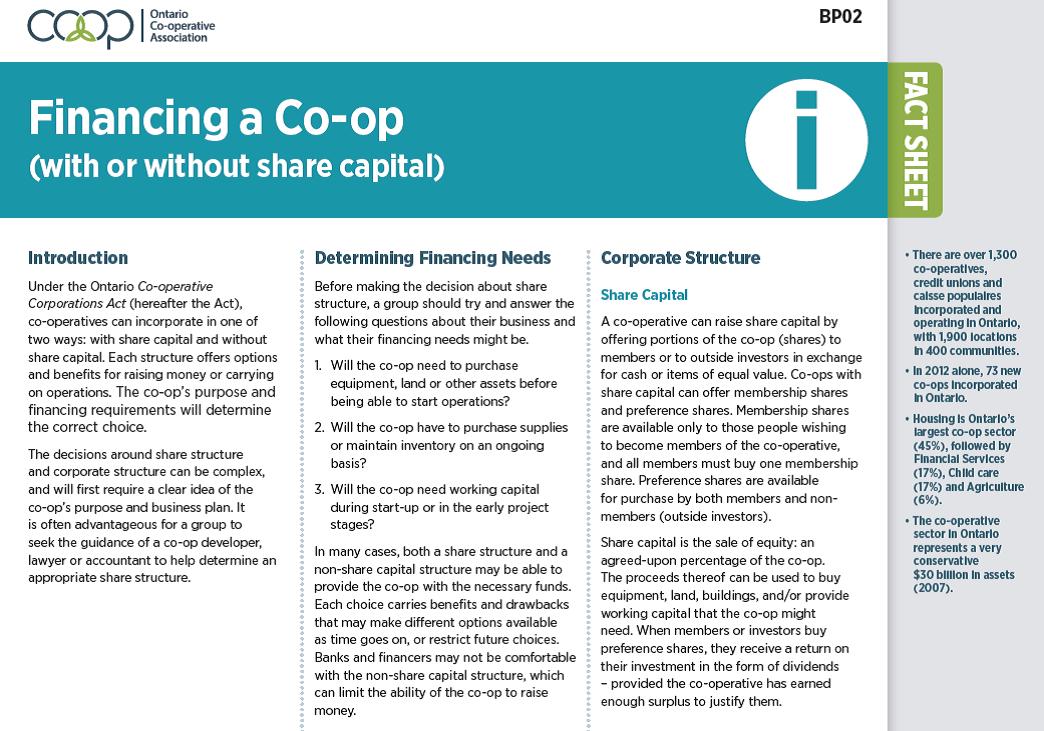 Financing a Co-op