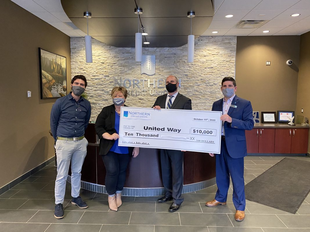 Northern Credit Union donates $10,000 to United Way for Pandemic recovery